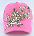 Pin Applique Flower RhinestoneHat